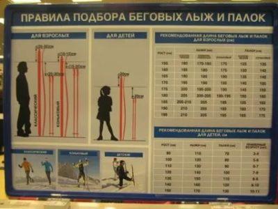 Какой длины должны быть лыжные палки для ребенка