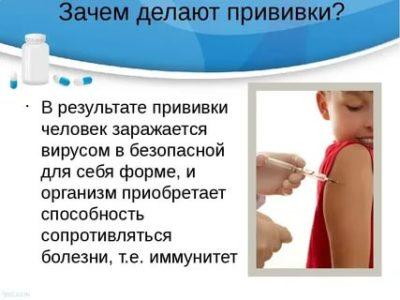 Для чего прививка