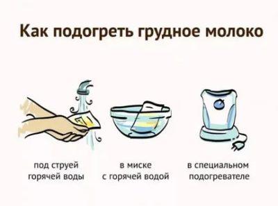 Как подогреть сцеженное грудное молоко