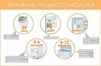 Сколько можно держать замороженное грудное молоко в холодильнике