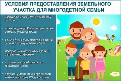 Можно ли получить землю за третьего ребенка