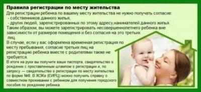 Можно ли прописать новорожденного ребенка с бабушкой