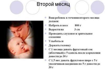Что должен уметь делать ребенок в 2 месяца