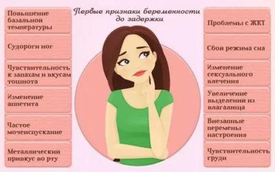 Какие симптомы перед беременностью