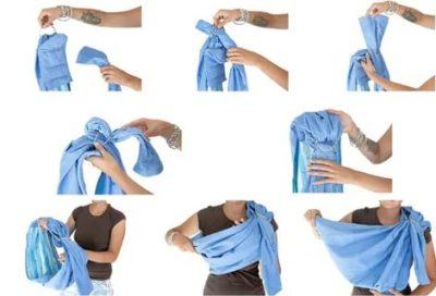 Как носить в слинге с кольцами