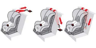 Как установить детское кресло в машину