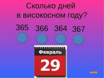 Сколько дней в високосном году в феврале