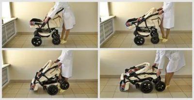 Как складывать коляску 3 в 1