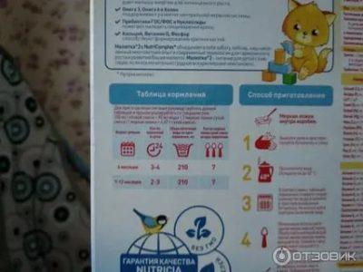 Как правильно приготовить детскую смесь малютка