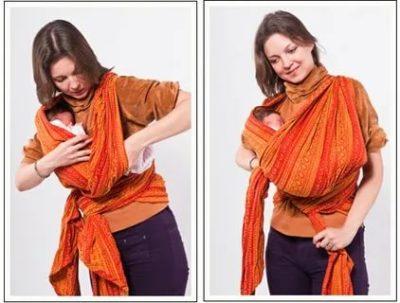 Как завязывать слинг шарф