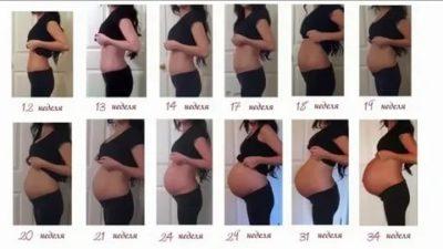 На каком сроке начинает расти живот при второй беременности